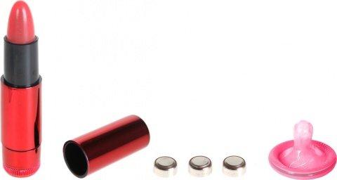 Вибратор помада 9 см красная