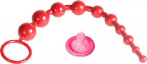 Шарики анальные цепочка 25 см красные