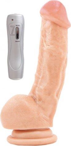 Вибратор RealStick #108 телесный 17 см 7 режимов вибрации, фото 4