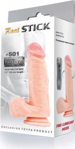 Фаллоимитатор с вращением Real Stick 501 19 см, фото 3