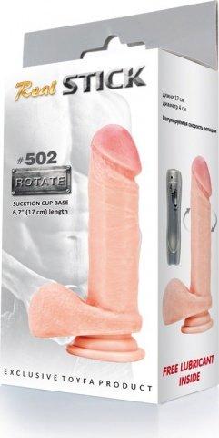 Вибратор с вращением Real Stick 502 17 см, фото 3