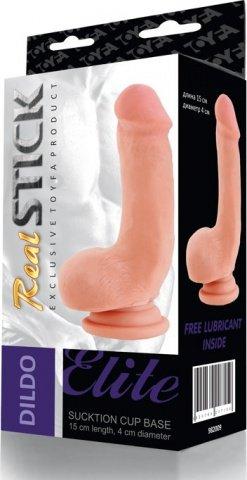 Реалистичный фаллос на присоске Real Stick 15 см, фото 4