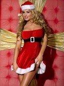 Новогоднее платье имитацией корсета