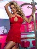 Платье с открытой спиной красное - Секс шоп Мир Оргазма