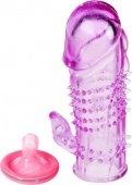 Насадка гелевая фиолетовая - Секс-шоп Мир Оргазма