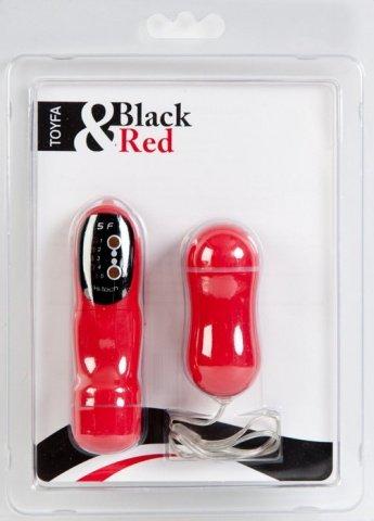 Вибратор с пультом ДУ, 7 см красный