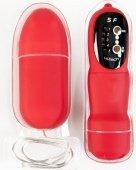 Купить вибраторы на радио управлении. Вибратор с пультом ДУ, 7,6 см красный. Онлайн магазин интим товаров.