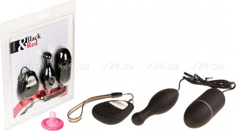 Вибронабор с пультом ДУ, 5 режимов вибрации, черный, фото 2
