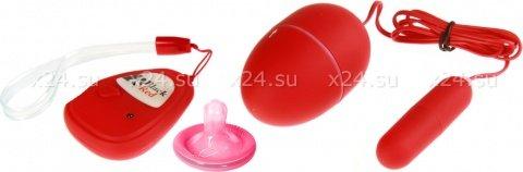 Вибронабор с пультом ДУ, 5 режимов вибрации, красный