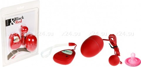 Вибронабор с пультом ДУ, 5 режимов вибрации, красный, фото 2