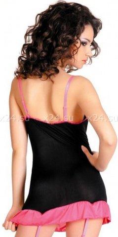 Платье с пажами и стринги черно-розовые, фото 2
