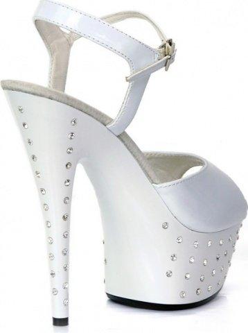 Туфли со стразами белые 40 р
