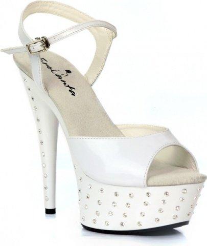 Туфли со стразами белые 40 р, фото 2