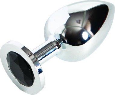 Анальная втулка серебро бол.(черный), фото 3