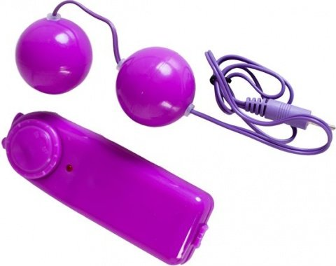 Вагинальные шарики с вибрацией, фиолетовые, фото 3