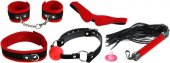 Набор: Маска + ошейник + наручники + кляп + плетка - Секс шоп Мир Оргазма