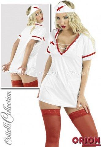 Костюм медсестры бело-красный