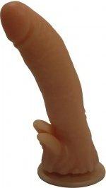 Фаллоимитатор на присоске гелевый 18 см