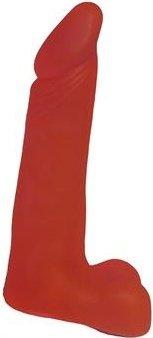 Насадка для страпона гелевая с мошонкой 17 см