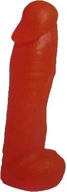 Насадка для страпона гелевая с мошонкой 20 см
