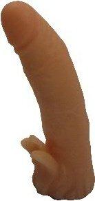 Насадка для страпона гелевая телесная 18 см