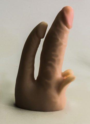 Насадка для страпона телесная 16 см