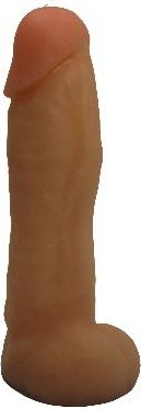 Насадка для страпона гелевая телесная 20 см