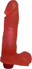 Вибратор гелевый розовый 19 см