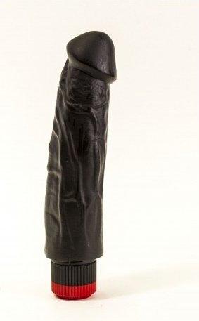 Вибратор реалистик черный Биоклон 18 см