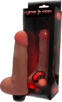 Вибромассажер с мошонкой, неоскин, 42 х170 мм 17 см, фото 2