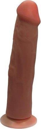 Фаллоимитатор на присоске Кибер-кожа 19 см
