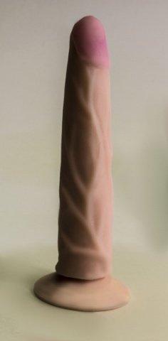 Фаллоимитатор на присоске Кибер-кожа в подарочной упаковке 17 см