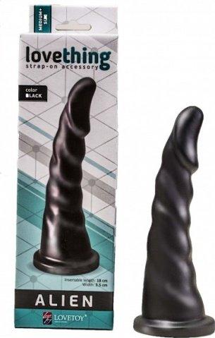 Насадка для страпона в коробке black 18 см