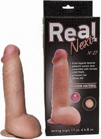 фаллоимитатор на присоске 8 real next 27 20 см, фото 3