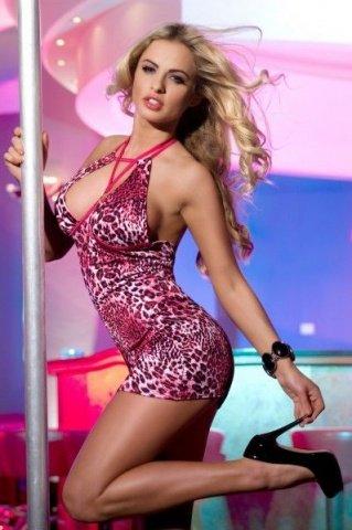 Платье с леопардовым рисунком-XL