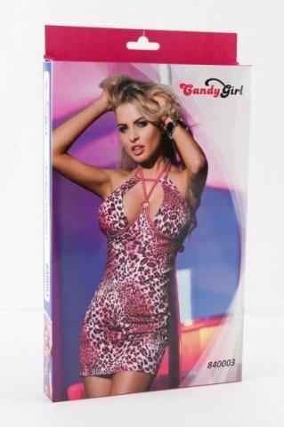 Платье с леопардовым рисунком-XL, фото 2