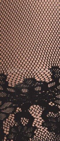 Костюм-сетка с рукавами, с цветочным рисунком, черный-S/L, фото 3