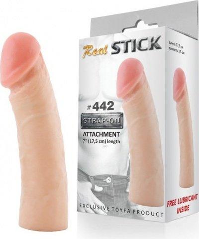 Фаллоимитатор-насадка RealStick #442, телесный, 17,5 см, фото 3
