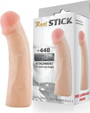 Фаллоимитатор-насадка RealStick #448, телесный, 16,5 см, фото 2