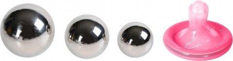 Набор вагинальных шариков: 3 шт, металлические d=30 мм, 25 мм, 20 мм