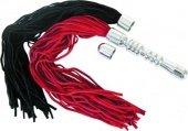 Купить фетиш наборы. Анальная втулка с двумя сменными плетками черная + красная. Интеренет-магазин и секс-шоп.