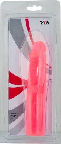 Фаллоимитатор 19 см, розовый, фото 4