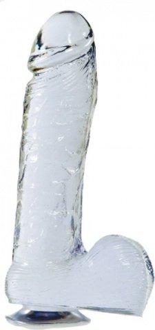 Фаллоимитатор прозрачный желе 21,6 см