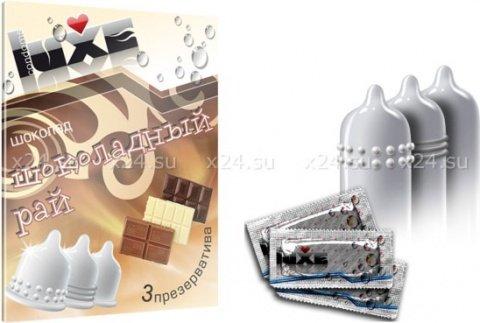Ароматизированные презервативы со вкусом шоколада (3 шт.), фото 2
