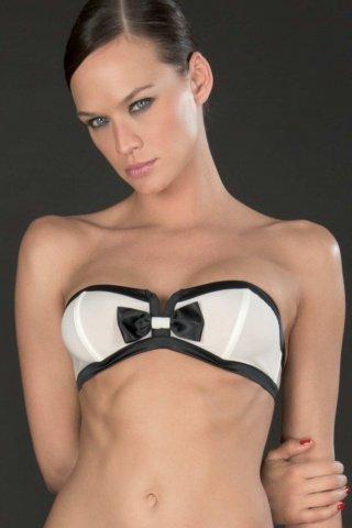 Элегантный бюстгальтер без бретелек Cabaret (Maison Close), цвет Черно-белый, размер M