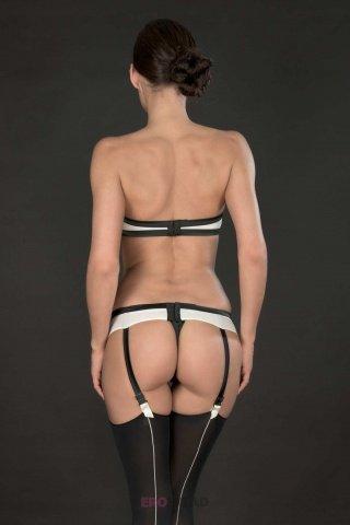 Элегантный бюстгальтер без бретелек Cabaret (Maison Close), цвет Черно-белый, размер M, фото 2
