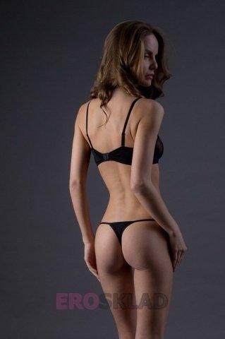 Полупрозрачный бюстгальтер цвет Черный, размер M, фото 3