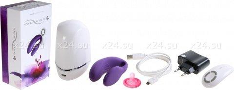 Вибромассажер для пар We-Vibe-4 на радиоуправлении (фиолетовый)