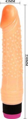 Вибратор с пупырышками, реалистик, 43 х210 мм 23 см, фото 4