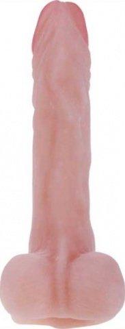 Фаллоимитатор на присоске, гнущийся, ультраскин, 41 х215 мм 21 см, фото 5
